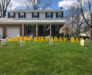 Yard Card - Beer Mugs Lawn Greeting Rental Cincinnati Ohio