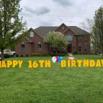 Yard Card - Birthday Balloons Lawn Greeting Rental Cincinnati Ohio