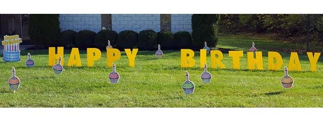 YARD CARD – BIRTHDAY CUPCAKES added to inventory!