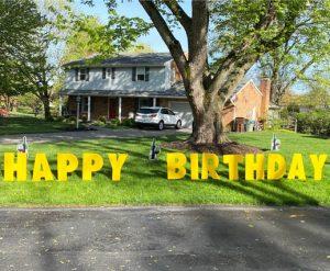 Yard Card - Wine Glasses & Bottles Lawn Greeting Rental Cincinnati Ohio