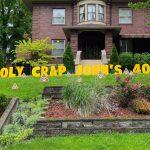 Yard Card - Holy Crap Poop Emojis Lawn Greeting Rental Cincinnati Ohio