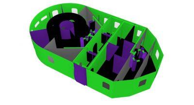 Battle Light Maze Inflatable Laser-tag-like game rental cincinnati ohio