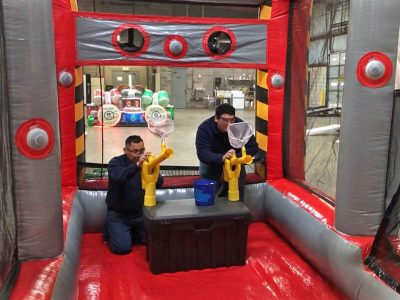 Battlezone Inflatable Players with Cannonball Air Blaster Rental Cincinnati Ohio