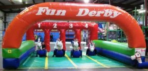 Pony Downs - Inflatable Horse Race Track Rental