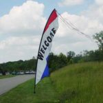 Wind Feather Sign - Welcome Rental Cincinnati Ohio