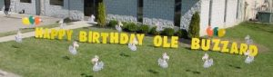 Ole Buzzard Birthday Yard Cards & Signs Rentals Cincinnati Ohio