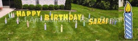 Birthday candles Yard Cards & Signs Rentals Cincinnati Ohio