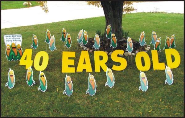 Birthday Corn Ears Old Yard Cards Signs Rentals Cincinnati Ohio