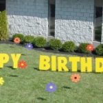 Birthday flowers Yard Cards & Signs Rentals Cincinnati Ohio