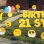 21st birthday Yard Cards & Signs Rentals Cincinnati Ohio