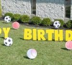 Sports Balls Birthday Yard Cards & Signs Rentals Cincinnati Ohio