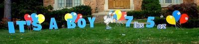 It's a boy Yard Cards & Signs Rentals Cincinnati Ohio