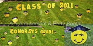 Graduation Yard Cards & Signs Rentals Cincinnati Ohio