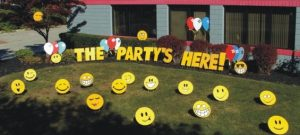 Birthday Party Yard Cards & Signs Rentals Cincinnati Ohio